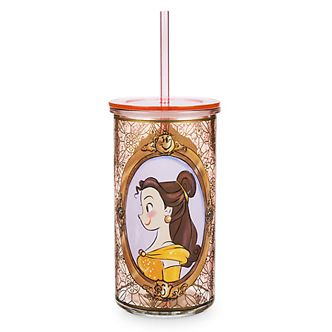 Art of Belle Glass Tumbler with Straw