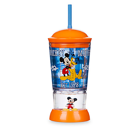 Mickey Mouse and Pluto Snowglobe Tumbler with Straw