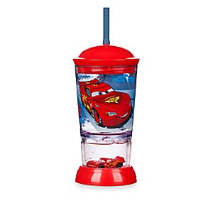 Lightning McQueen Snowglobe Tumbler with Straw