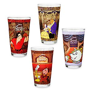 Beauty and the Beast Drinking Glass Set - 4 pc. - Oh My Disney