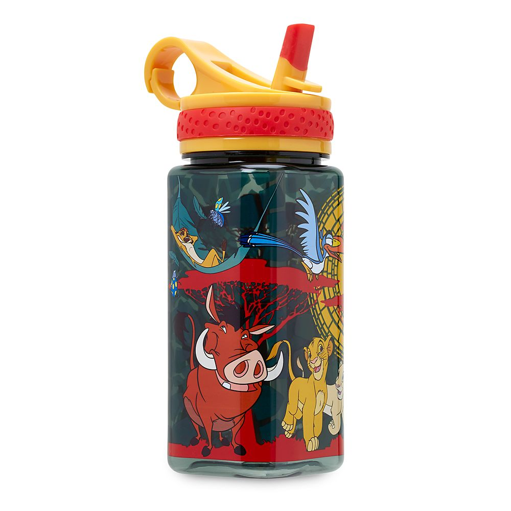 The Lion King Water Bottle with Built-In Straw