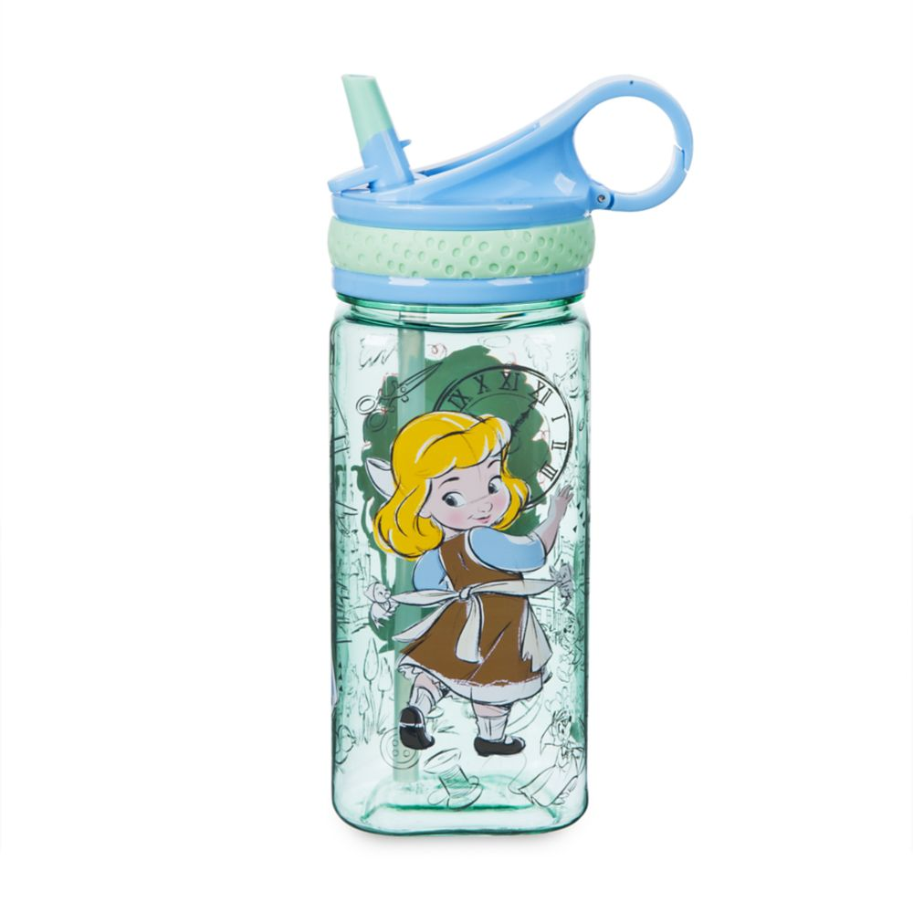 Disney Animators' Collection Water Bottle with Built-In Straw