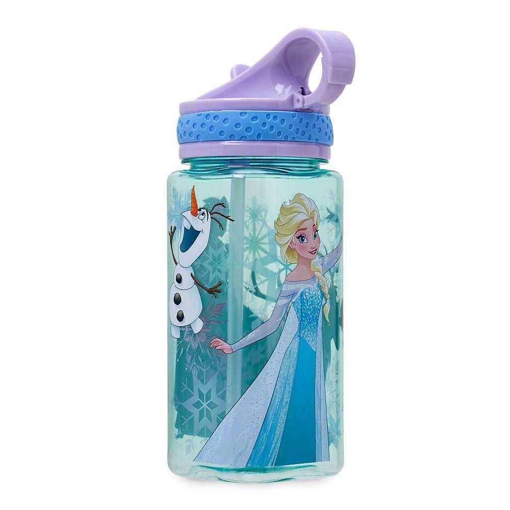 Frozen Water Bottle with Built-In Straw