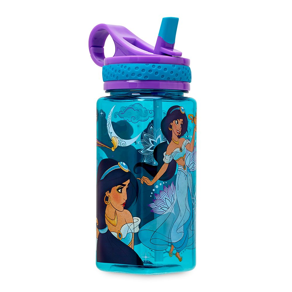 Jasmine Water Bottle with Built-In Straw