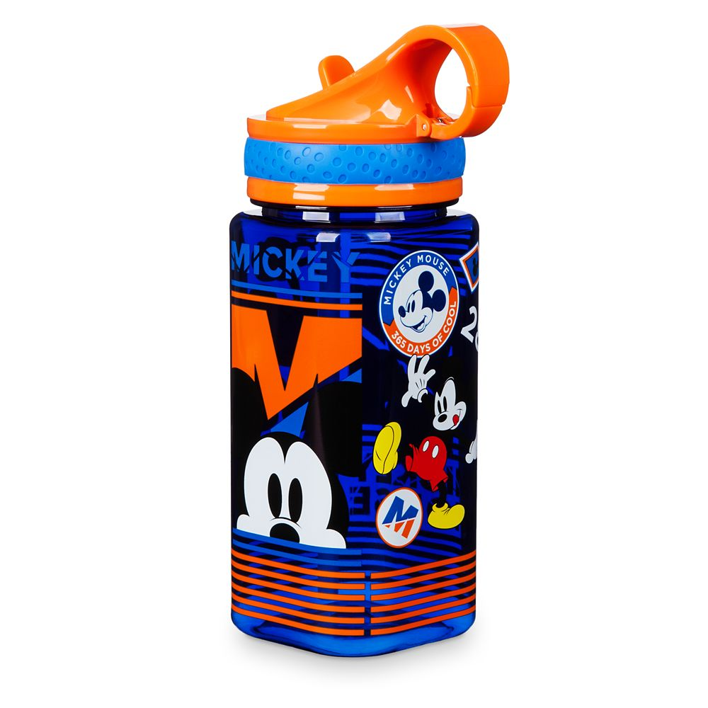NEW Disney Store Ariel Water Bottle w// Straw 16oz The Little Mermaid Princess
