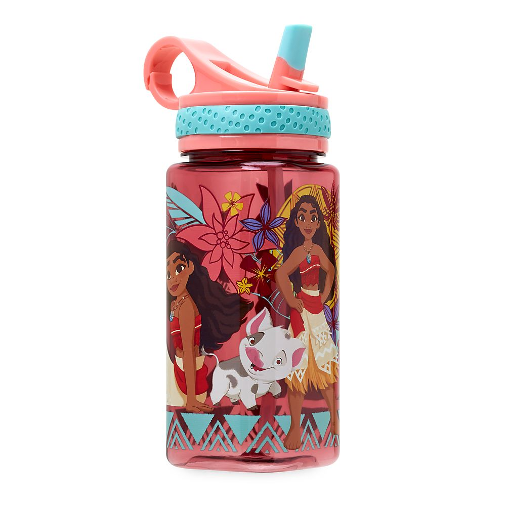 Moana Water Bottle with Built-In Straw