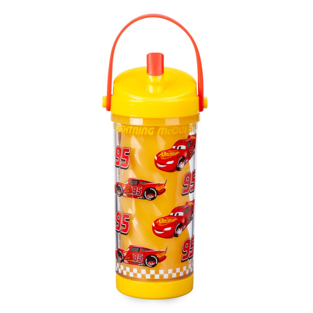 Lightning McQueen Color Change Drink Bottle with Flip Straw