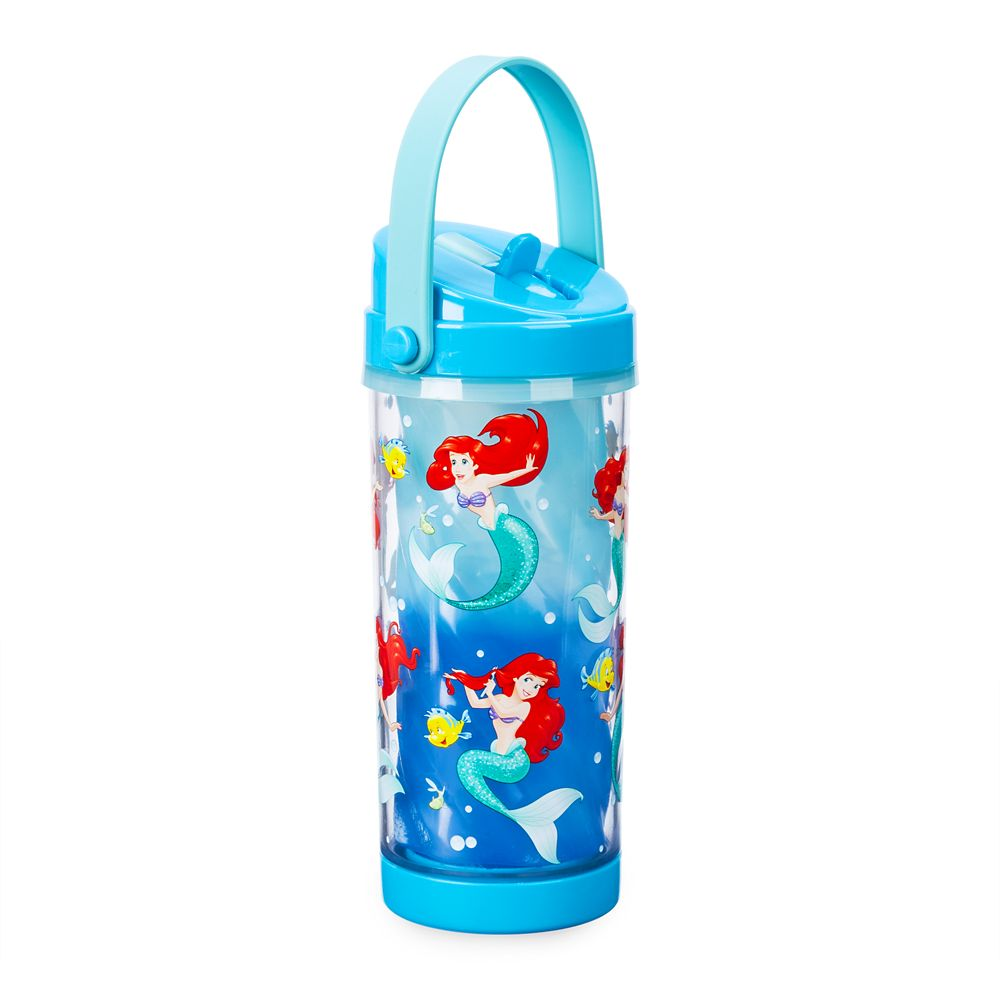 Ariel Color Change Drink Bottle with Flip Straw – The Little Mermaid