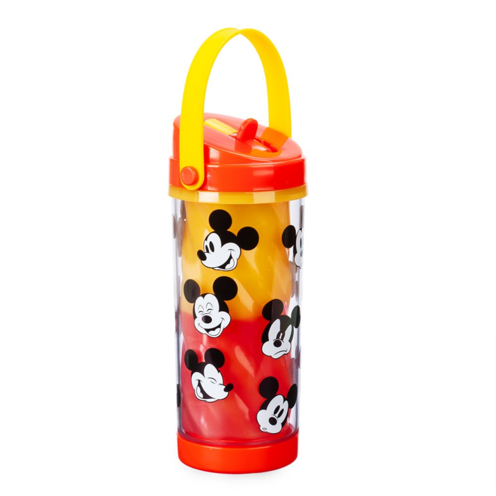 Mickey Mouse Color Change Drink Bottle with Flip Straw