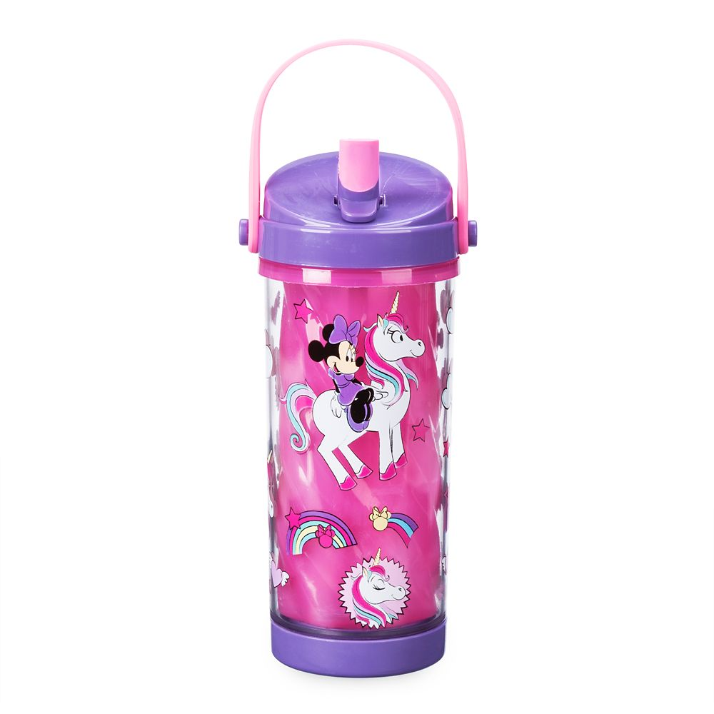 Minnie Mouse Color Change Drink Bottle with Flip Straw