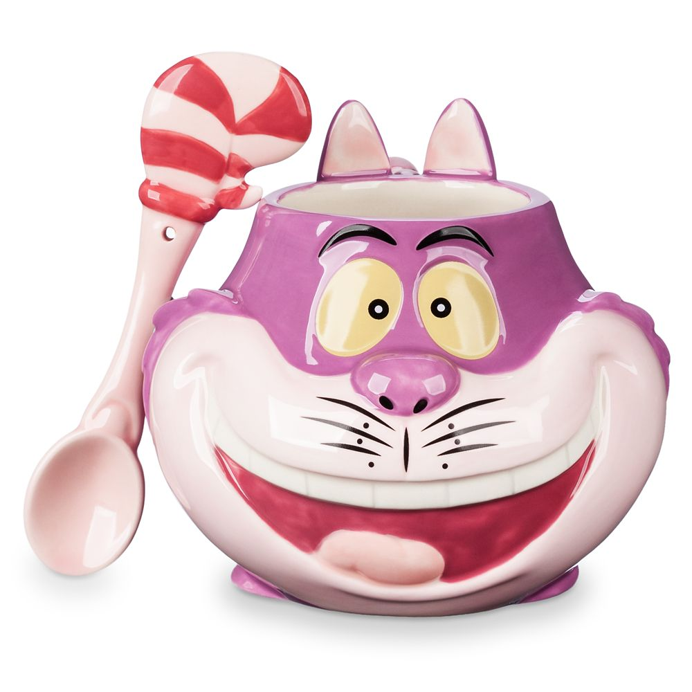 Cheshire Cat Mug and Spoon Set