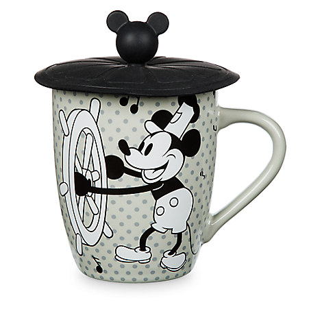 Mickey Mouse Steamboat Willie Mug with Lid