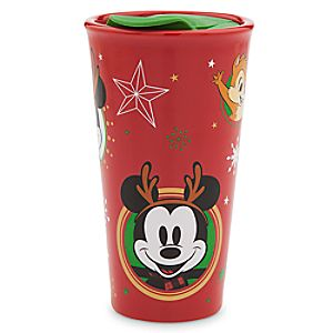 Mickey Mouse and Friends Holiday Travel Mug