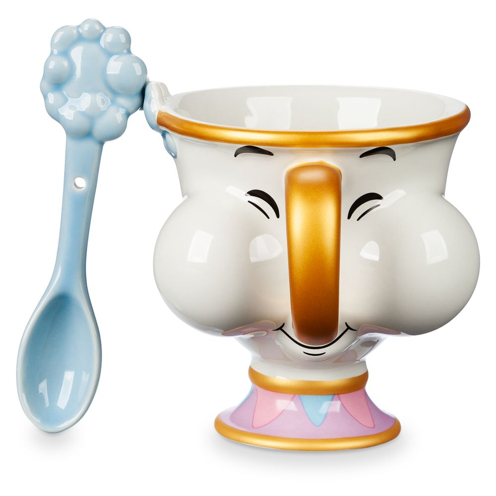 Chip Teacup and Spoon Set – Beauty and the Beast