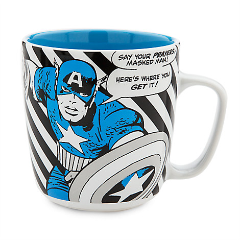 Captain America Marvel Comic Book Mug