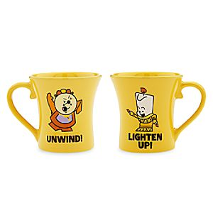 Cogsworth and Lumiere Mug Set - Beauty and the Beast