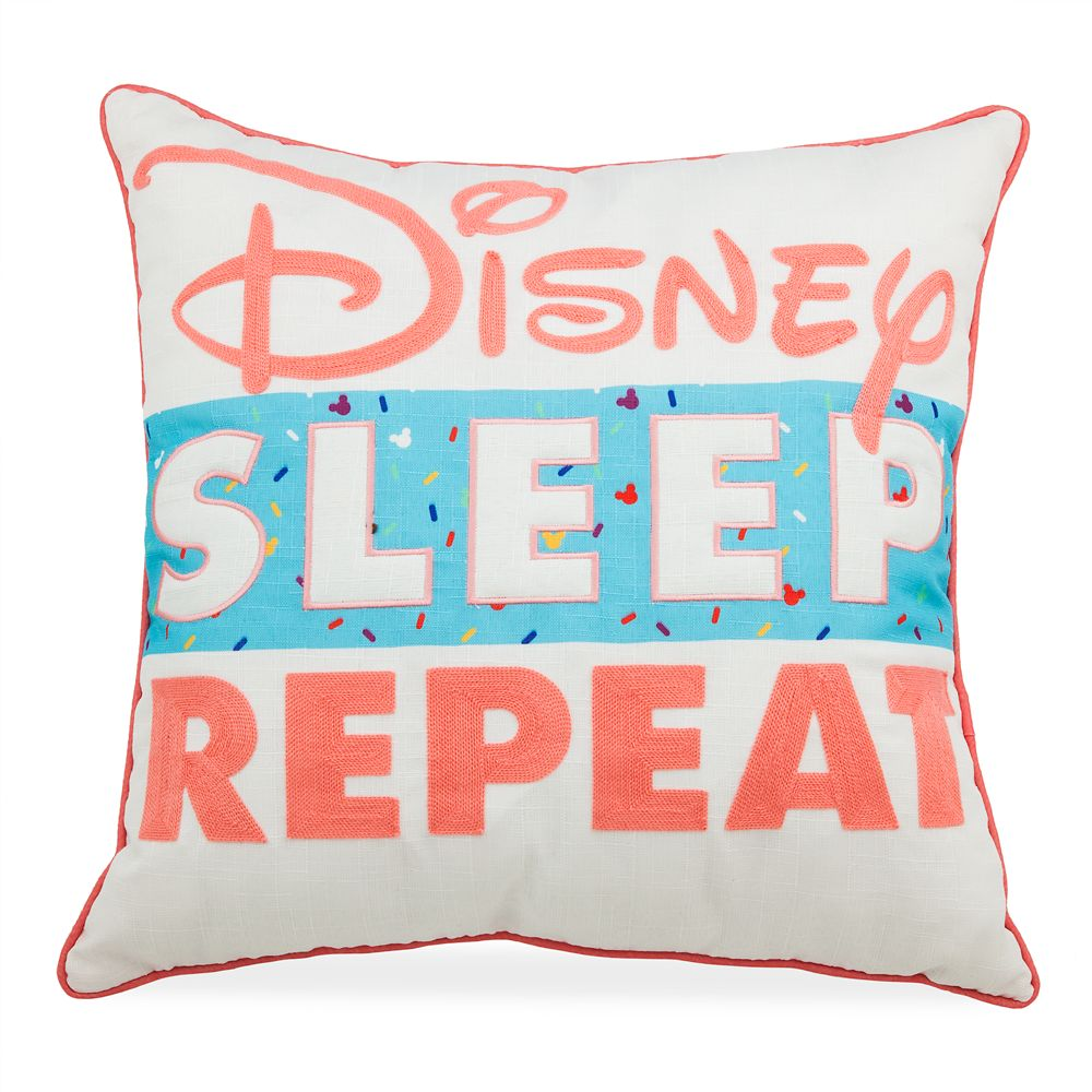 ''Disney Sleep Repeat'' Pillow
