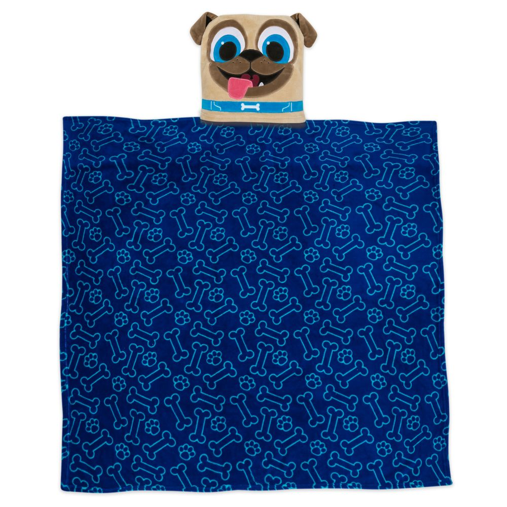 Rolly Convertible Fleece Throw – Puppy Dog Pals – Personalized