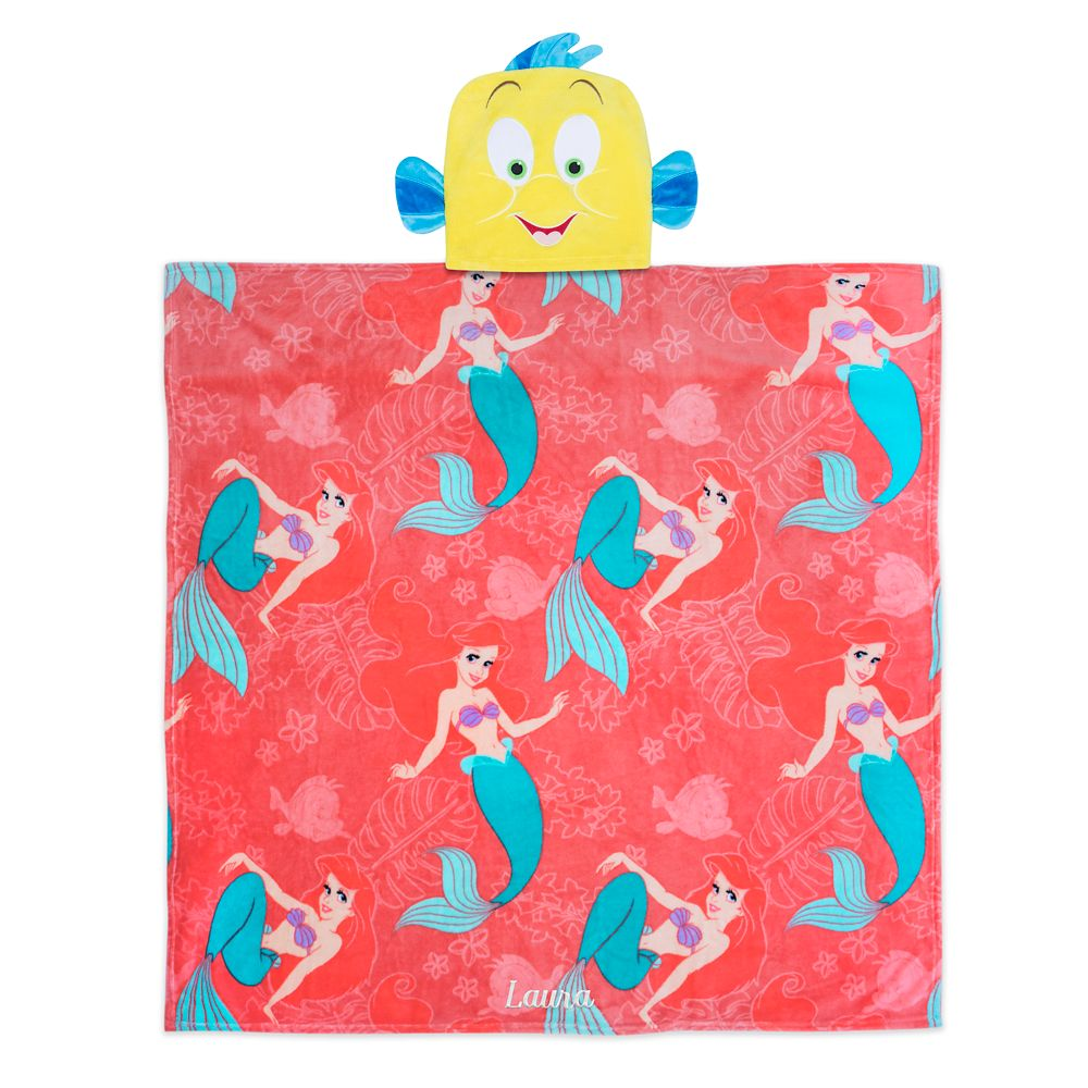 The Little Mermaid Convertible Fleece Throw – Personalized