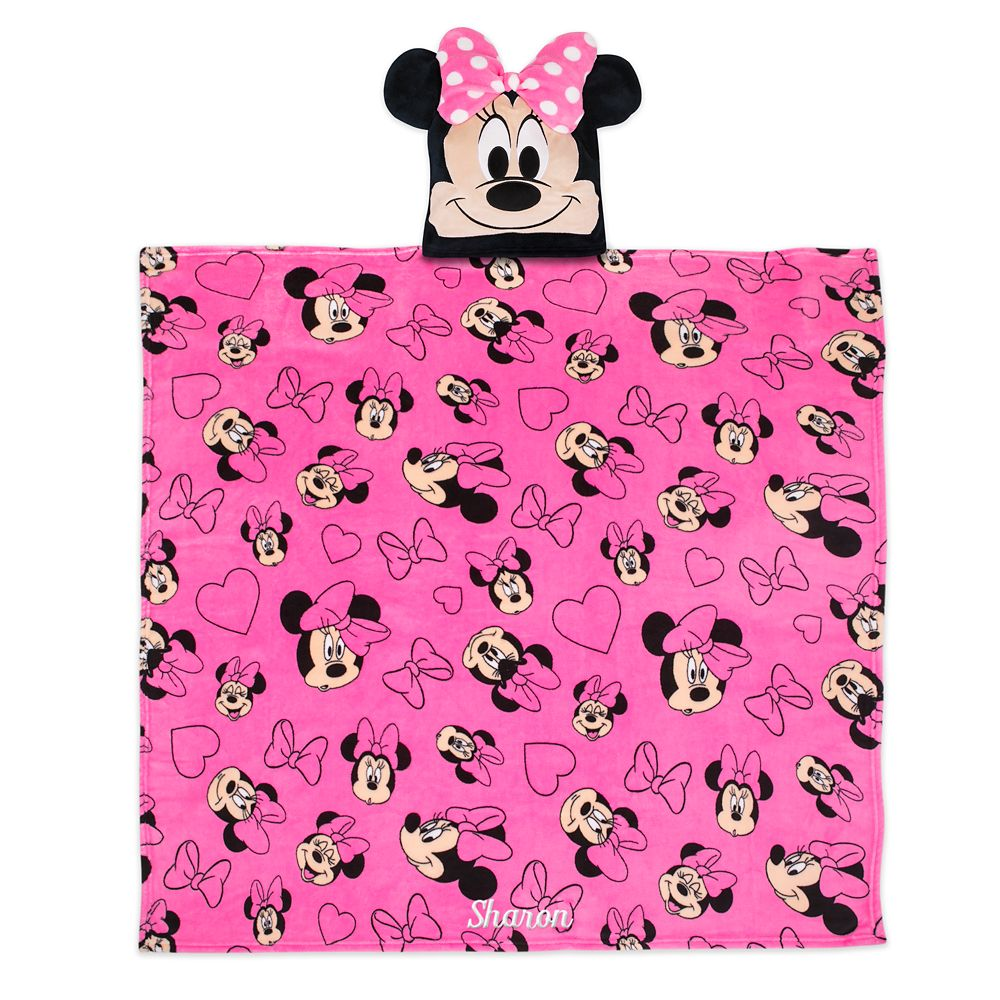 Minnie Mouse Convertible Fleece Throw – Personalized