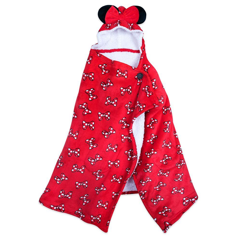 Minnie Mouse Hooded Fleece Throw