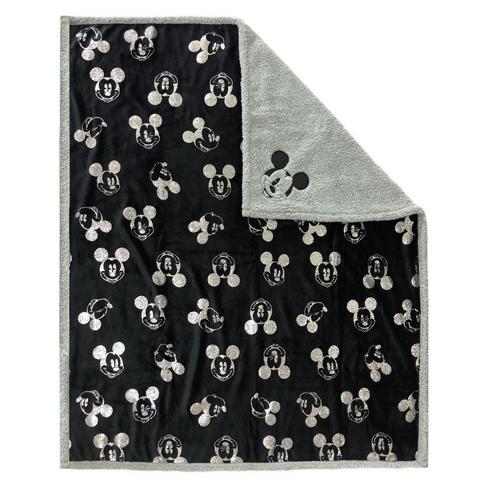 Mickey Mouse Grayscale Reversible Throw