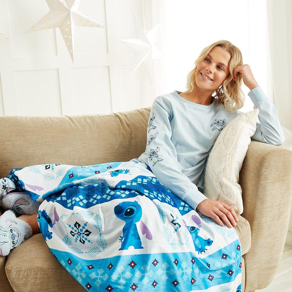 Stitch Fleece Throw Blanket for Adults – Lilo & Stitch
