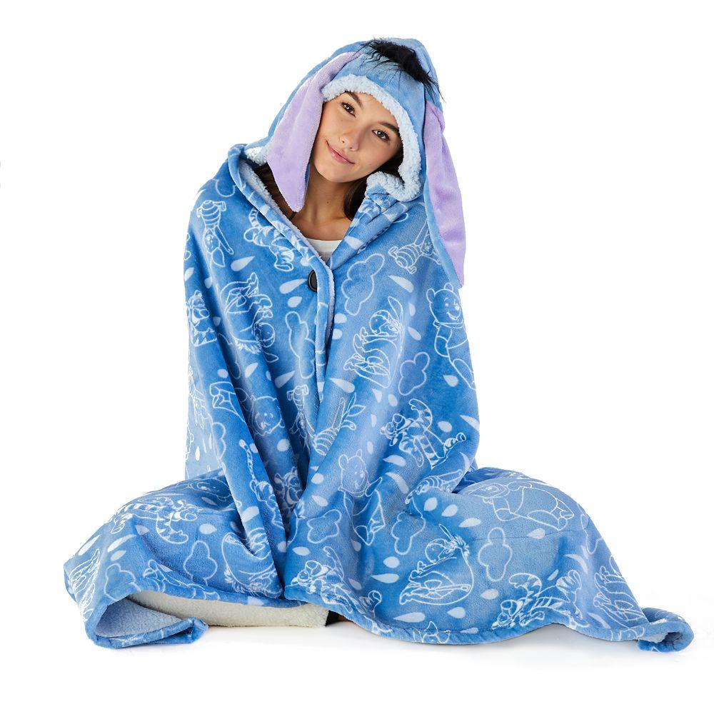 Eeyore Hooded Fleece Throw for Adults