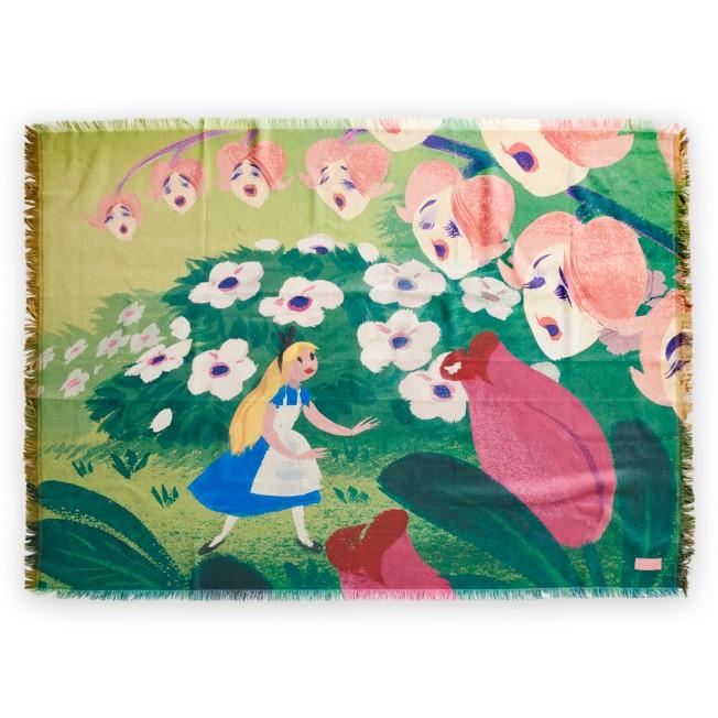 Alice in Wonderland by Mary Blair Throw Blanket