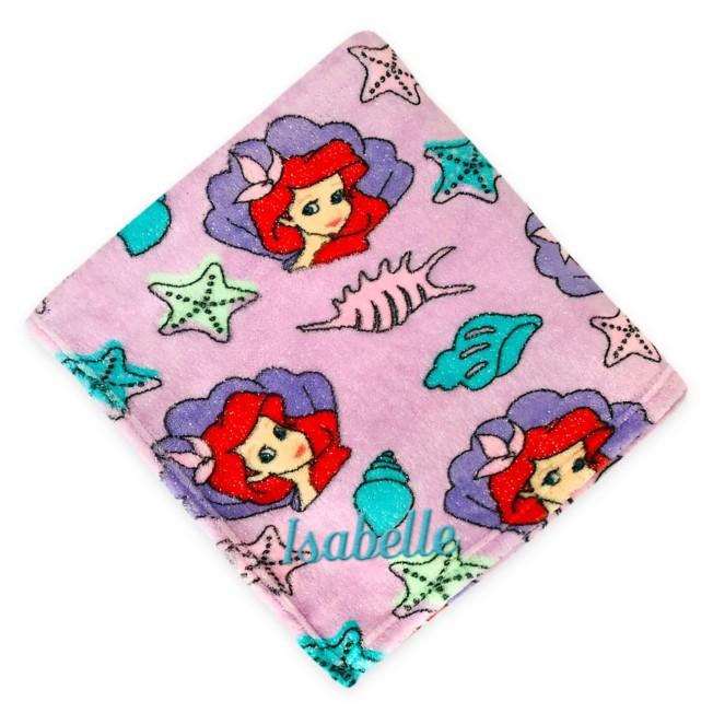 Ariel Fleece Throw – The Little Mermaid – Personalized