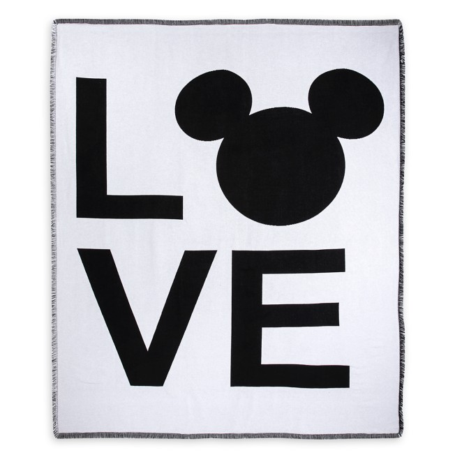Mickey Mouse Icon ''LOVE'' Tapestry Throw