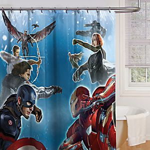 Captain America: Civil War Shower Curtain
