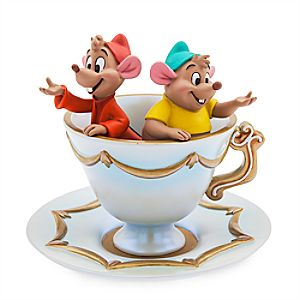 Jaq and Gus Figure Trinket Tray - Cinderella