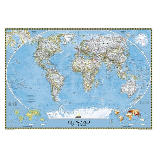 World Classic Mural Map – National Geographic