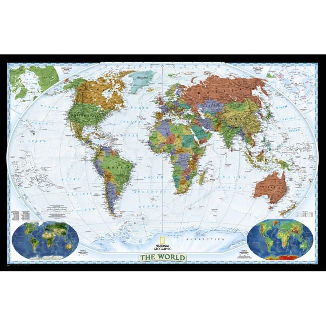 World Decorator Laminated Map – National Geographic