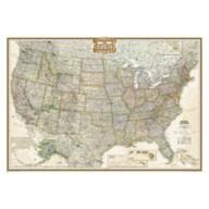 United States Executive Laminated Map – National Geographic