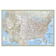 United States Classic Mural Map – National Geographic