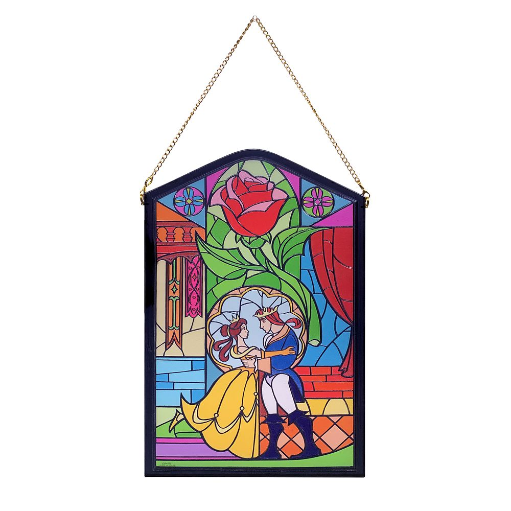 Beauty and the Beast Stained Window Wall Décor