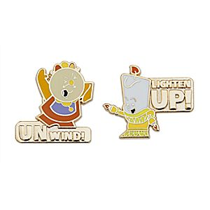 Cogsworth and Lumiere Pin Set - Beauty and the Beast