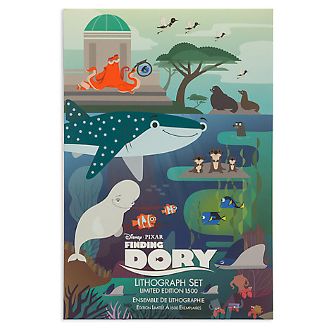 Finding Dory Lithograph Set - Limited Edition