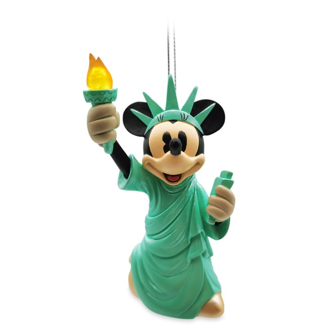 Minnie Mouse Statue of Liberty Light-Up Ornament