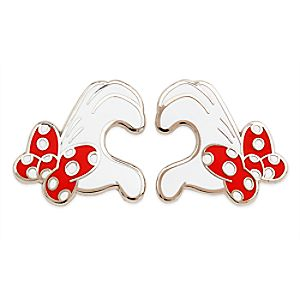 Minnie Mouse Heart Gloves Pin Set