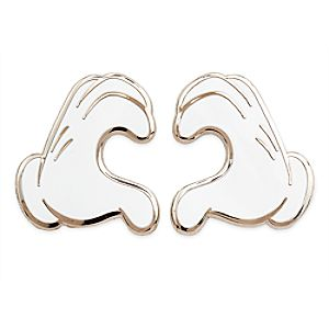 Mickey Mouse Heart Gloves Pin Set