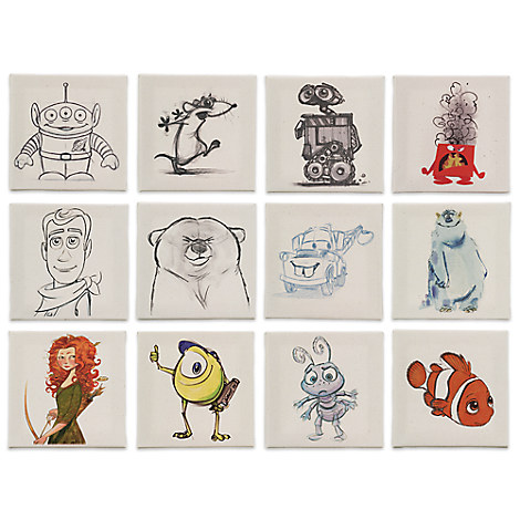 Pixar Art Canvas Set of 12 - Limited Edition