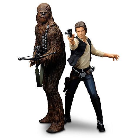 Han Solo & Chewbacca ARTFX+ Figures by Kotobukiya - Star Wars: A New Hope