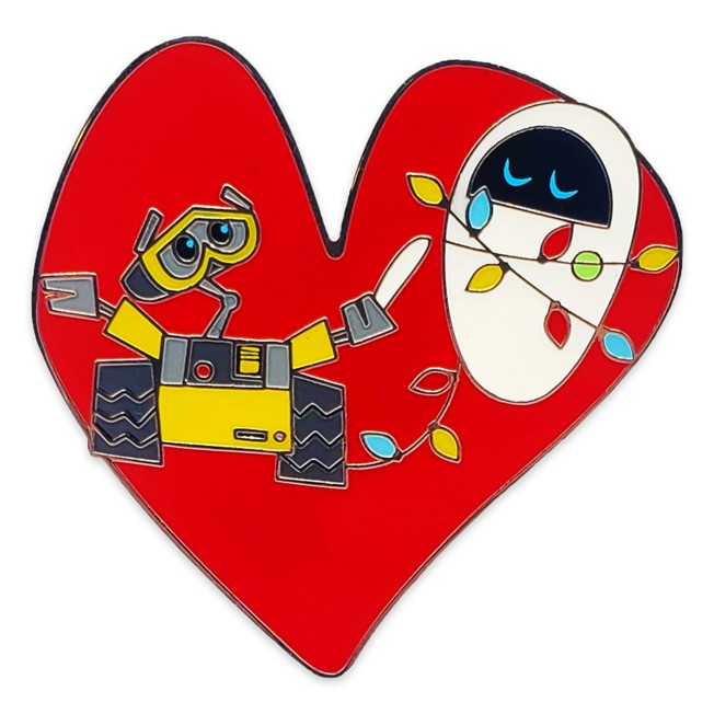 WALL•E and E.V.E. Heart Pin