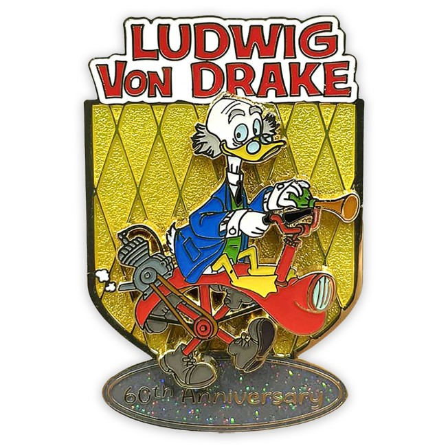 Ludwig Von Drake 60th Anniversary Pin – Limited Release