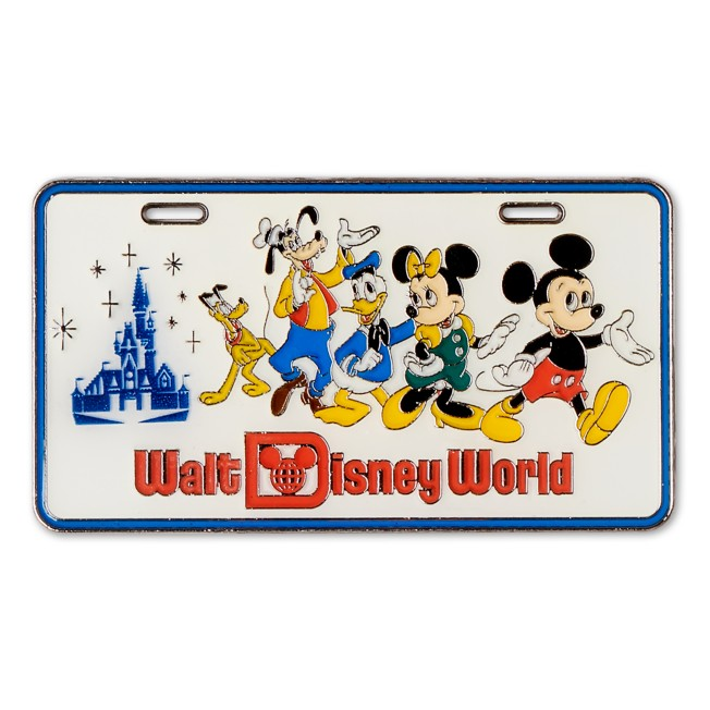 Mickey Mouse and Friends License Plate Pin – Walt Disney World 50th Anniversary