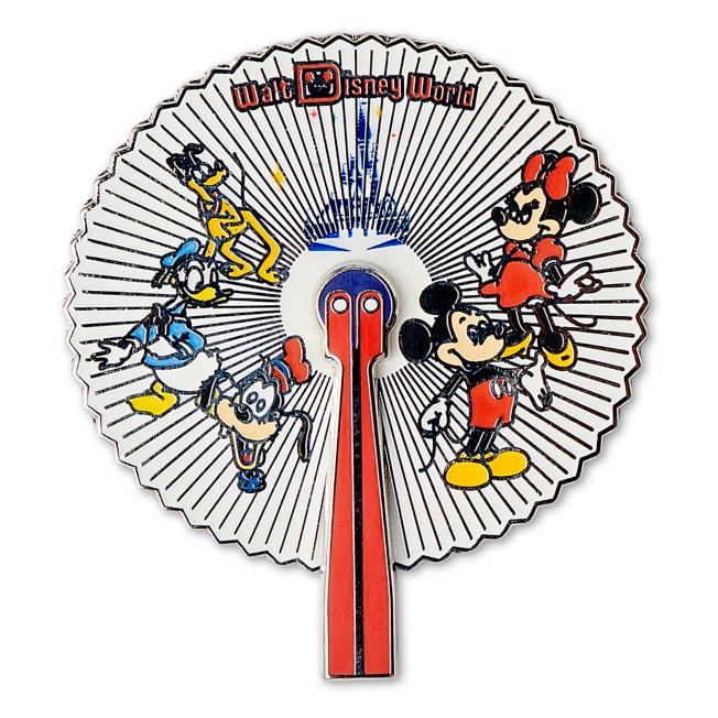 Mickey Mouse and Friends Fan Pin – Walt Disney World 50th Anniversary