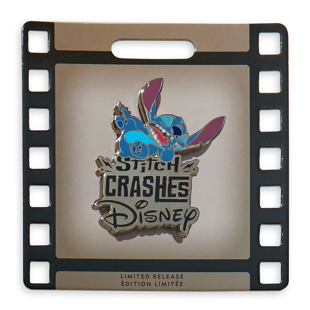 Stitch Crashes Disney Pin Holder with Pin – Limited Release